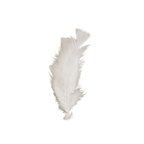 MADAM STOLTZ / Dekoratívne pierka White - 10ks