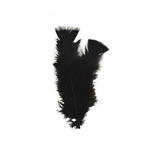 MADAM STOLTZ / Dekorativní peříčka Black - 10ks