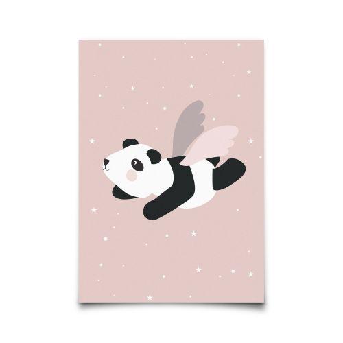EEF lillemor / Pohlednice Flying Panda Pink A6