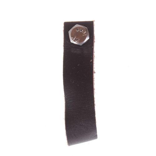 La finesse / Kožená úchytka tmavohnedá 9 cm