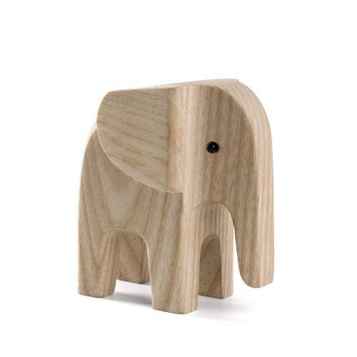 novoform / Drevený slon Baby Elephant Natural Ash