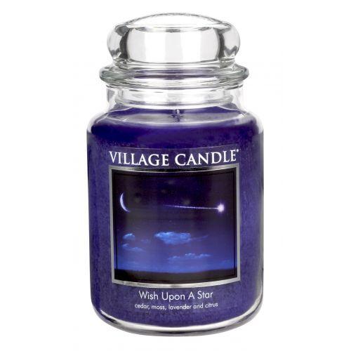 VILLAGE CANDLE / Svíčka ve skle Wish upon a star - velká