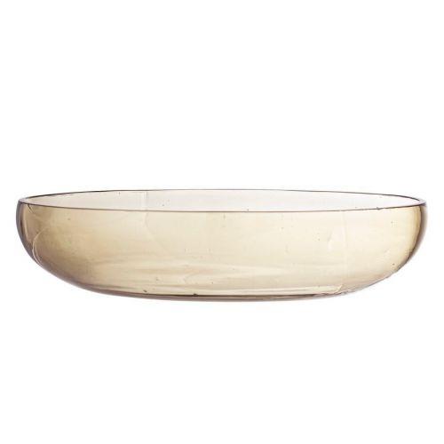 Bloomingville / Sklenená misa Casie Glass Brown ⌀ 21cm