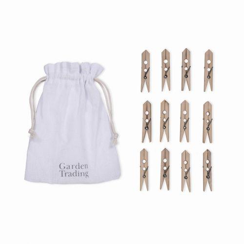 Garden Trading / Vrecúško so štipcami na bielizeň Bamboo - 12 ks