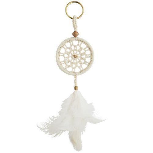 MADAM STOLTZ / Prívesok na kľúče Dreamcatcher White
