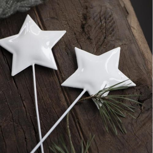 IB LAURSEN / Kovový zápich do kvetináča Star White