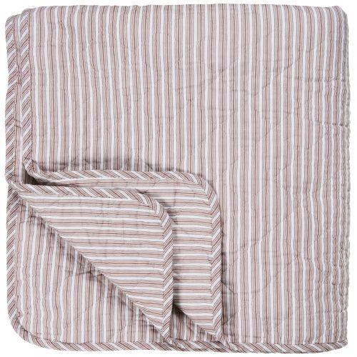 IB LAURSEN / Prešívaný bavlnený prehoz Peony Stripes 130x200
