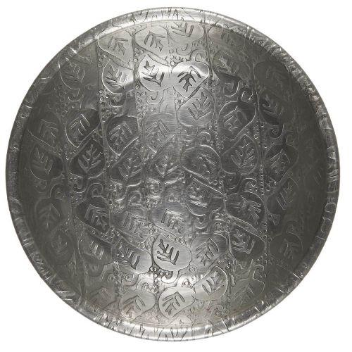 IB LAURSEN / Kovová tácka Leaf Pattern Silver