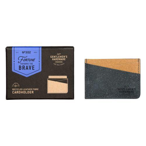 GENTLEMEN'S HARDWARE / Puzdro na platobné karty Leather Black & Tan