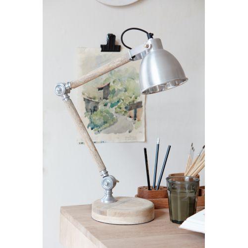 Hübsch / Stolná lampa Wood/iron