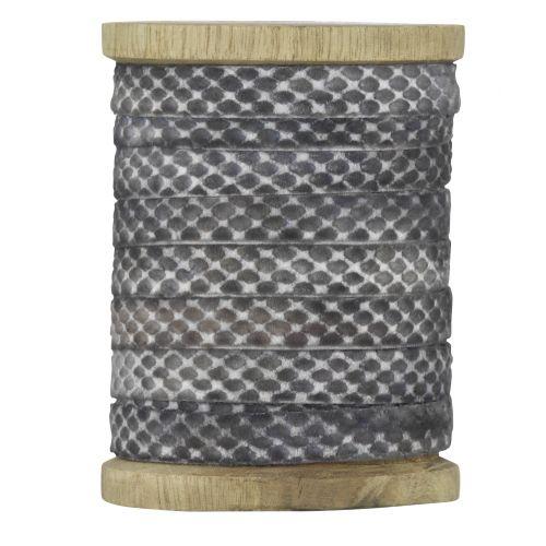 MADAM STOLTZ / Dekorativní stuha Grey velvet