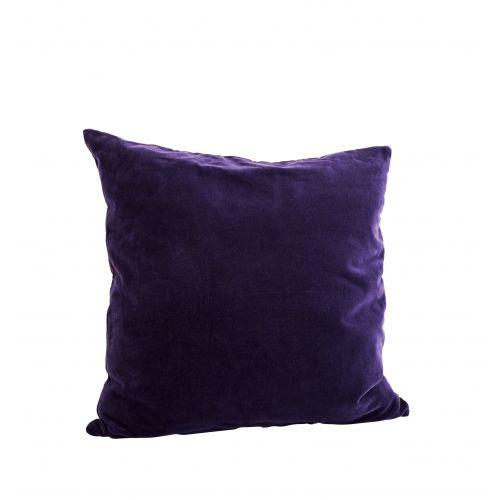 MADAM STOLTZ / Zamatová obliečka na vankúš Deep purple 50x50