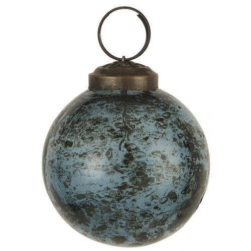 IB LAURSEN / Vianočná ozdoba Pebbled Glass Petrol