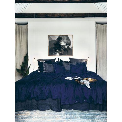 Lovely Linen / Prírodné ľanové obliečky Midnight Blue