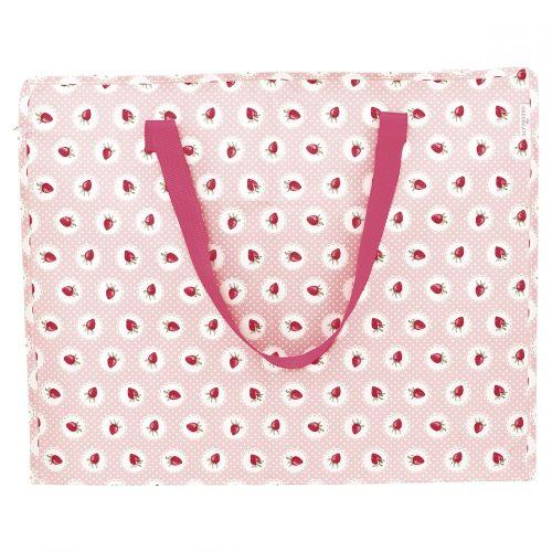 GREEN GATE / Úložná taška Strawberry Pale pink - väčší
