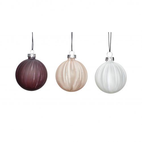 Hübsch / Vianočná ozdoba white/beige/purple