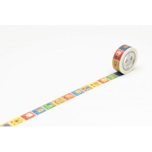 mt / Designová samolepiaca páska Alphabet A-M