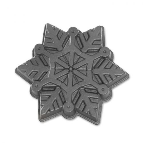 Nordic Ware / Hliníková forma Frozen Snowflake Silver