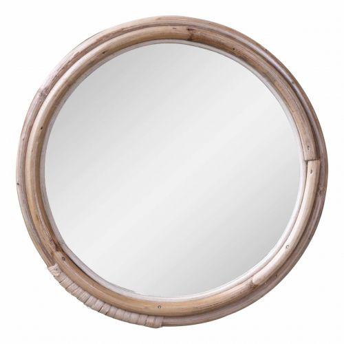 Chic Antique / Zrkadlo v bambusovom ráme Nature 23cm