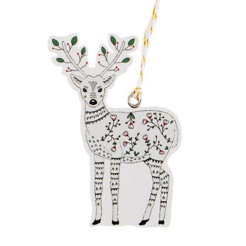 sass & belle / Štítky na vianočné darčeky Folk Deer 6 ks