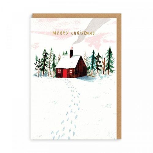 Ohh Deer / Vianočné prianie s obálkou Log Cabin A6