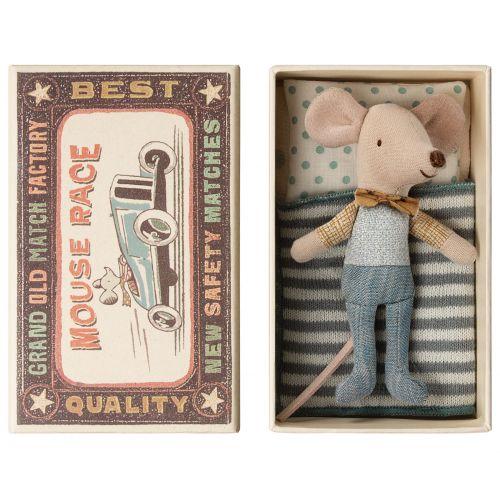 Maileg / Myšiak v krabičke od zápaliek Little brother