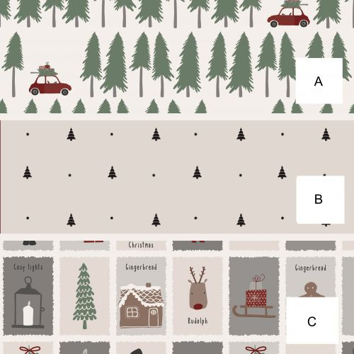 IB LAURSEN / Vianočný baliaci papier Winter Wapping Paper 5 m