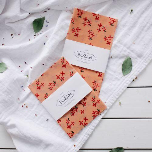BOŽAN / Voskovaný obrúsok Ružové Kvety 40 × 40 cm