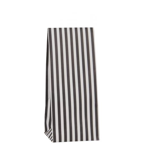 IB LAURSEN / Papierový sáčok Black stripes 30,5 cm