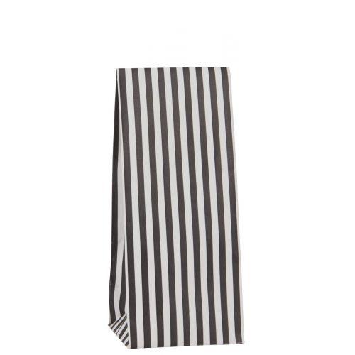 IB LAURSEN / Papierový sáčok Black stripes 22,5 cm