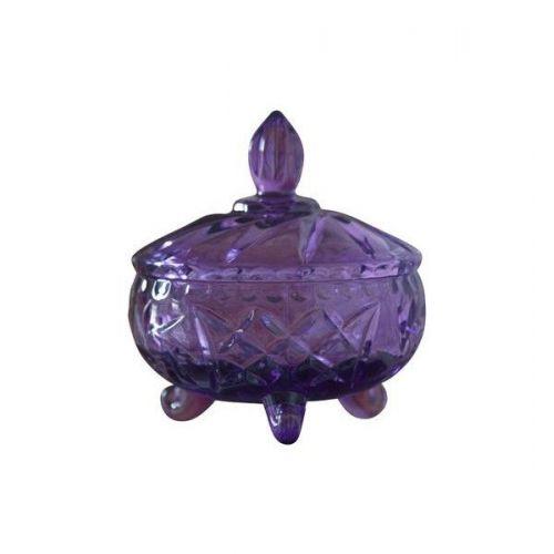 Jeanne d'Arc Living / Sklenená dóza s viečkom Glass Purple