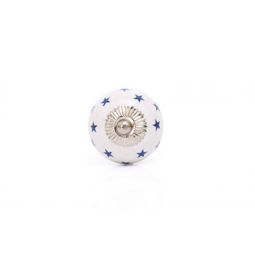 La finesse / Porcelánová úchytka Blue stars