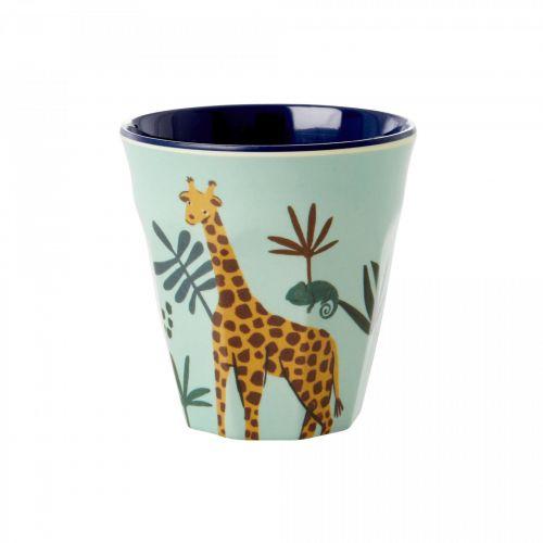 rice / Detský melamínový pohárik Jungle Animals 150 ml