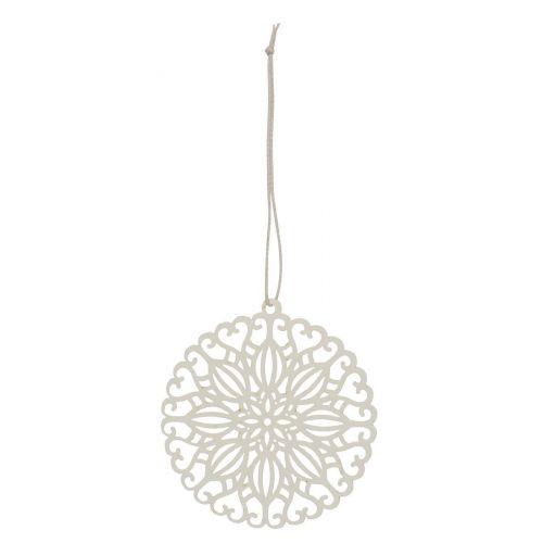 IB LAURSEN / Závesná papierová ozdoba Middle Flower White 8 cm