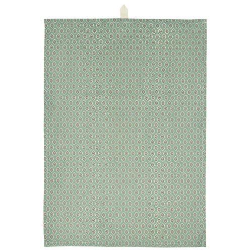 IB LAURSEN / Bavlnená utierka Dusty Green Berry Pattern