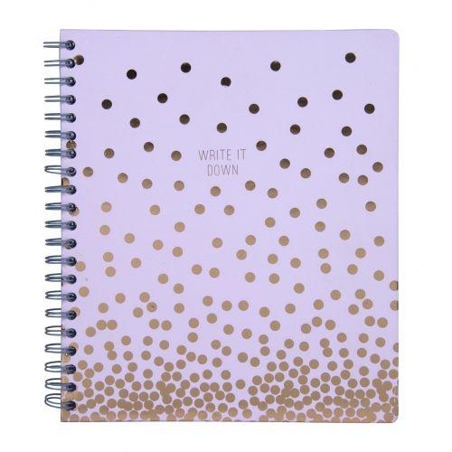 Tri-Coastal Design / Notes v kroužkové vazbě Copper Dot 28 cm