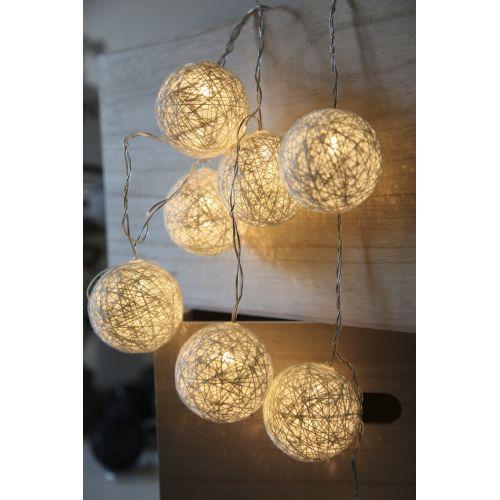 STAR TRADING / Svetelná lampionová reťaz Jolly White
