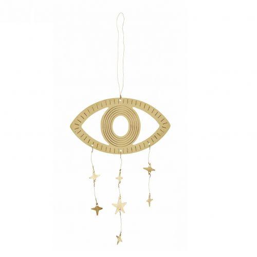 MADAM STOLTZ / Závesná kovová dekorácia Golden Eye