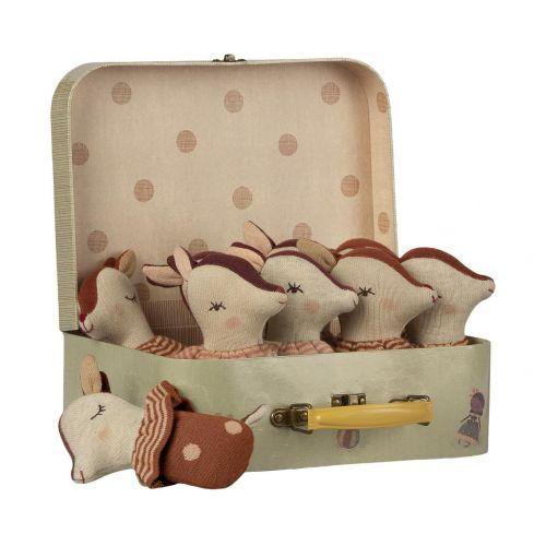 Maileg / Hrkálky v kufríku Bambi Rattle - Set 12 ks