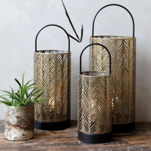 Chic Antique / Elektrický lampáš Antique Brass 33cm
