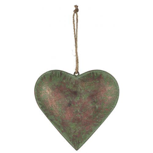 IB LAURSEN / Kovové závesné srdce Army Green 18 cm