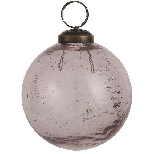 IB LAURSEN / Vianočná ozdoba Pebbled Glass Rosa 8cm
