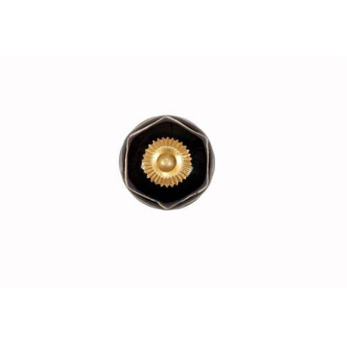 La Finesse / Porcelánová úchytka Ornament black/white