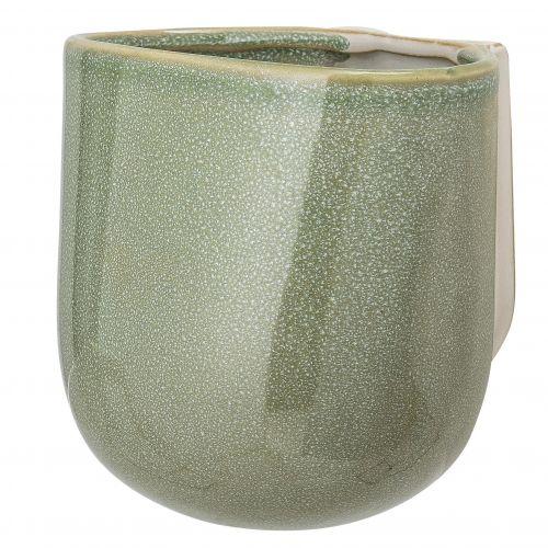 Bloomingville / Nástenný obal na kvetináč Green Glaze
