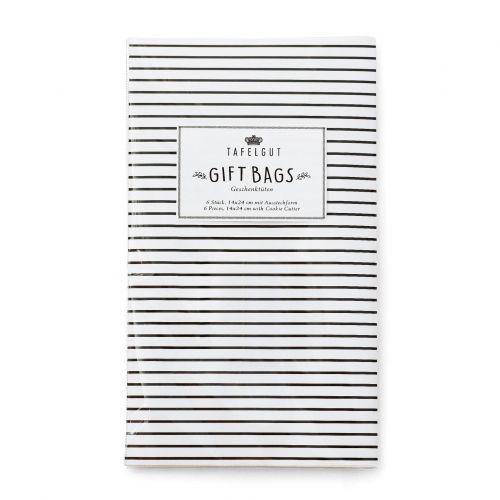 TAFELGUT / Darčekové papierové sáčky Stripes - 6 ks