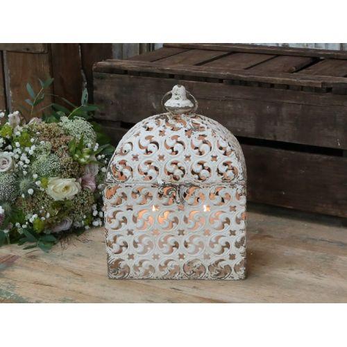 Chic Antique / Kovový lampáš Creme Rocaille