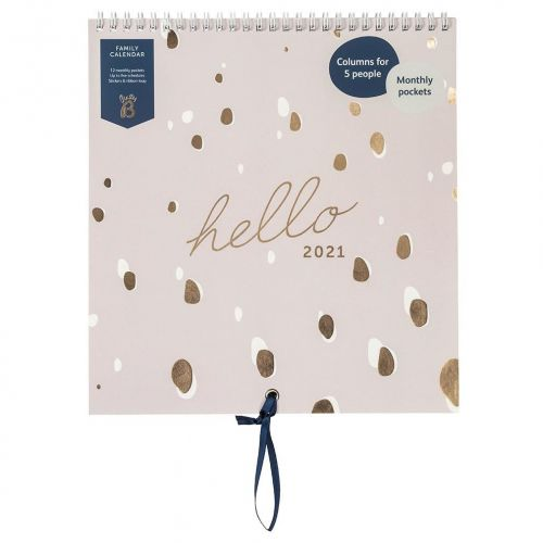 Busy B / Rodinný nástenný kalendár Lilac Spot 2021