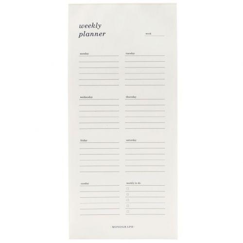 MONOGRAPH / Nedatovaný týždenní kalendár Black & White