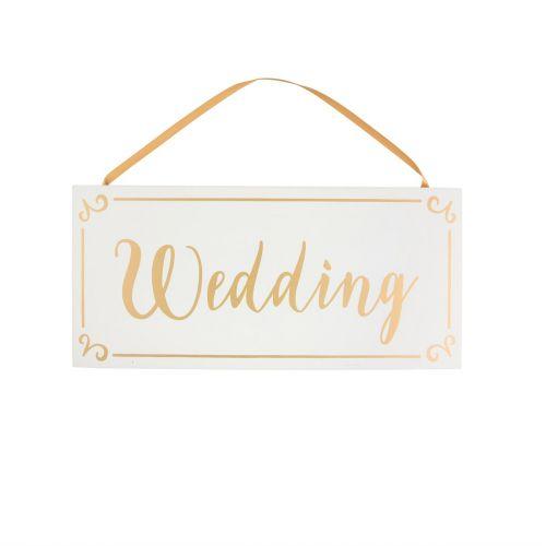 sass & belle / Drevená dekoratívna ceduľa Wedding
