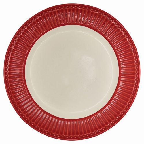 GREEN GATE / Obedový tanier Alice red